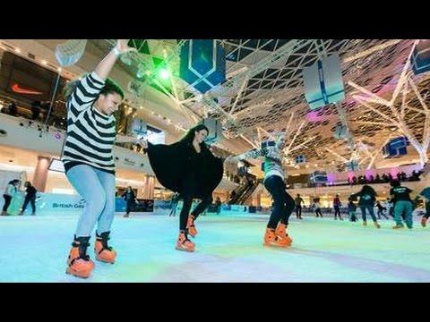 Ice Rink Skating - Westfield Stratford City near Olympic Park London Tourism