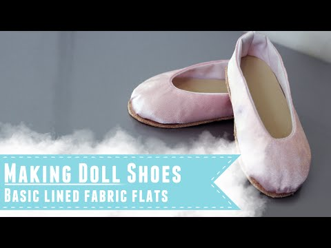 Making ballet flat style shoes for BJDs