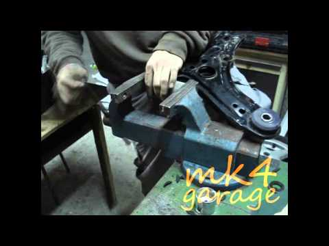 How to remove control arm bushings