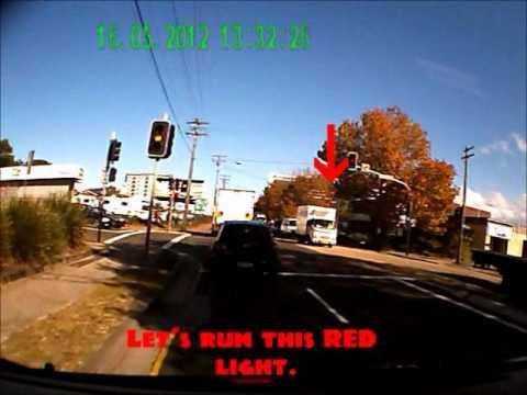 Red light runner Mascot NSW