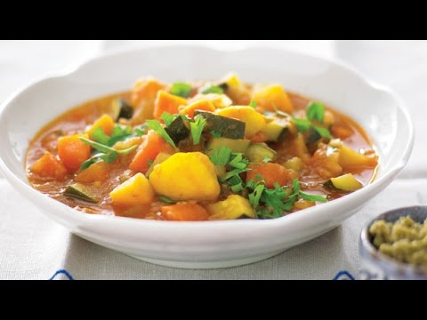 Slow Cooker Winter Vegetable Soup | One Pot Chef