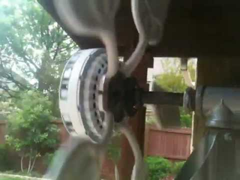 Large White Ceiling Fan Wind Turbine Alternator Generator. Free Energy From The Wind!