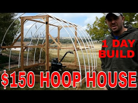 ORGANIC GARDENING--Build a Winter Greenhouse in 1 day for $150!!