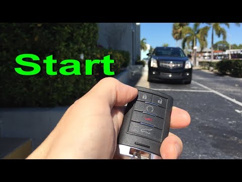 Cadillac remote start SRX or CTS how to remote start engine Caddy  2008-2013