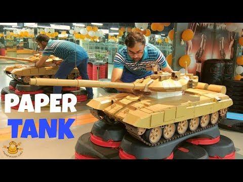OMG! This PAPER MODEL of T-90 TANK is awesome! भारतीय थल सेना का कागज़ का बना टी-90 'भीष्म' टैंक