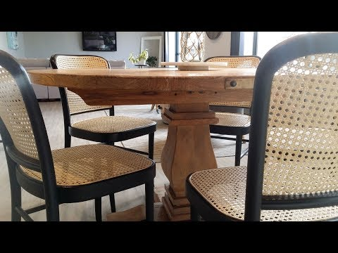 The Small Reno Project FURNITURE: DIY Rattan Webbing Chairs