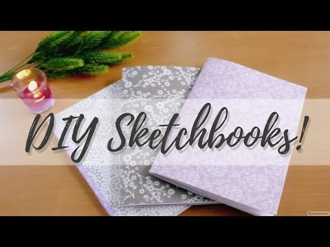Easy DIY Sketchbooks Tutorial - No Stitching! // Shraddha Shah