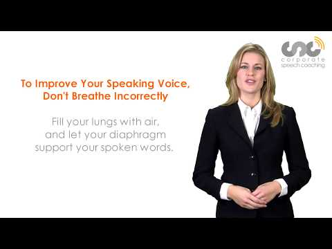 Is Your Speaking Voice Hurting Your Social Life? How To Change Your Voice Corporate Speech Coaching