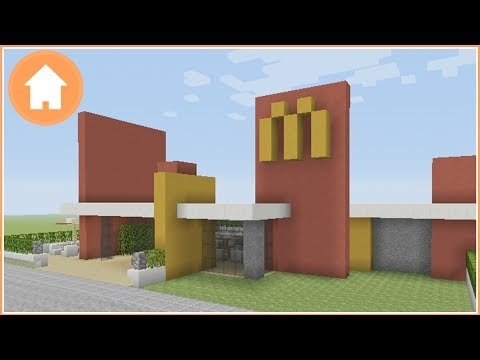 Minecraft Tutorial: How to Build a McDonald's in Minecraft #1