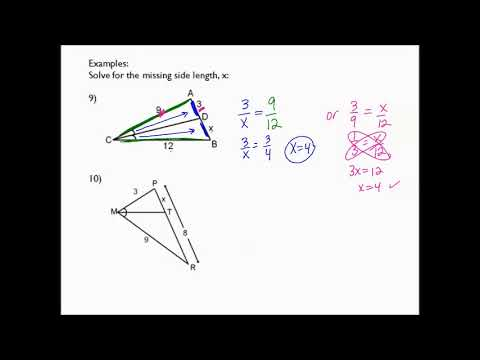 8.3f notes Triangle Angle Bisector Theorem