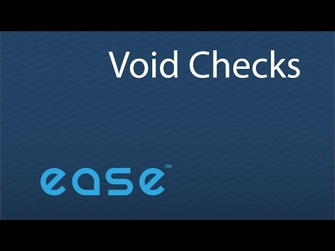 How to Void Checks