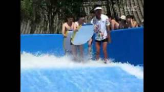 Funny Water slide accident