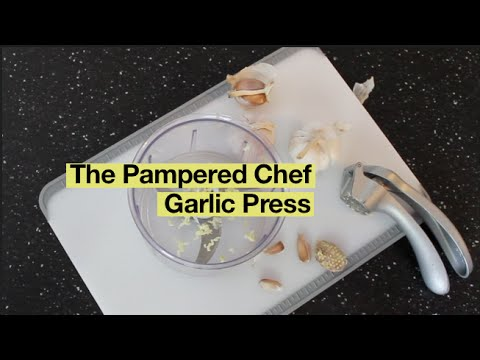 How to use the Pampered Chef Garlic Press