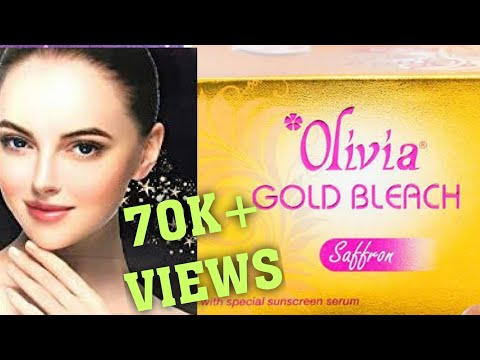 OLIVIA GOLD BLEACH REVIEW IN HINDI/ full demo how to apply bleach on face/