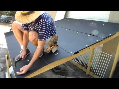 Roofing - Installing Tarpaper Felt - The Basics - Dry in of Mockup