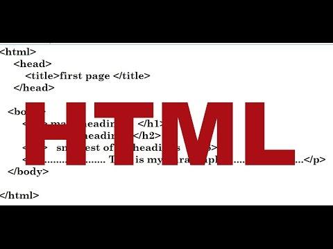 html basic structure-part1-[hindi]