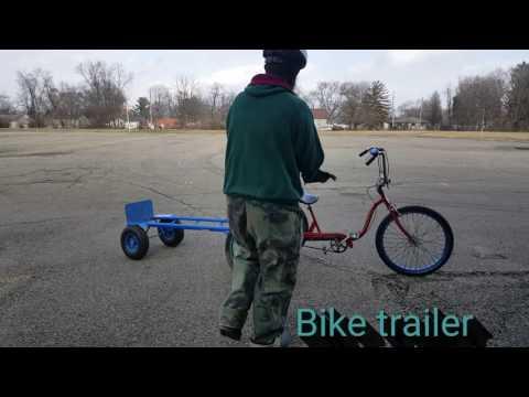 Homemade bike trailer with 2 wheel dolly