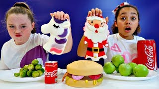 Download Real Food VS Gummy Food! Challenge!! Christmas Special Video