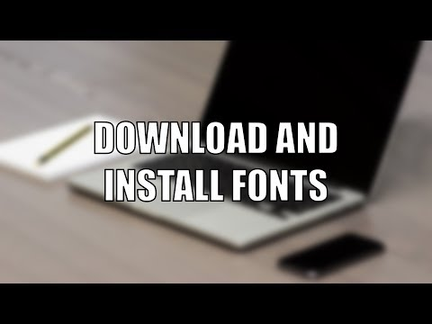 Download and Install Fonts | Windows 10