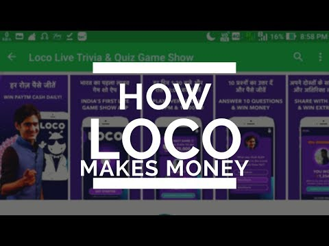 How Apps Like Loco,Mobshow Trivia quiz games make money?