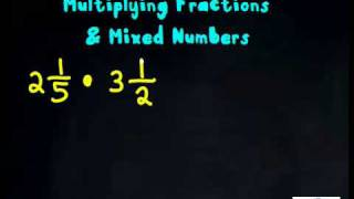 Multiplying Fractions With Mixed Numbers