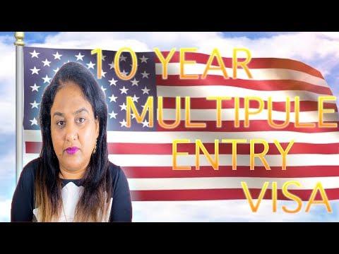 USA 10 years multiple entry visa B1/B2