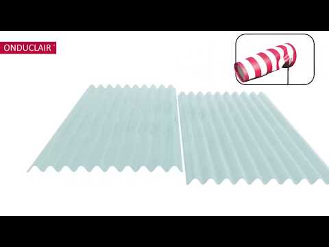 Plastic corrugated sheet instalation of ONDUCLAIR