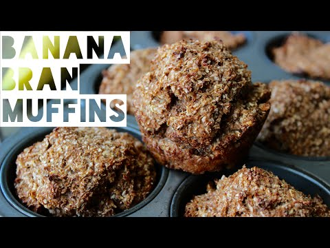 Healthy Muffins Recipe | How To Make Low Fat Banana Bran Muffins