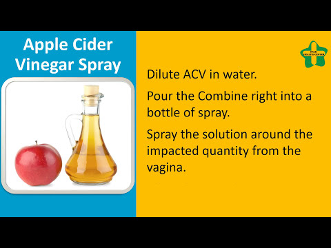 How to Use ACV for Vaginal Yeast Infection|Apple Cider Vinegar Spray., Apple Cider Vinegar Soak.