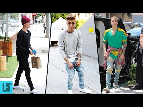 Justin Bieber's Street Style, Casual Style & Hairstyle - 2017