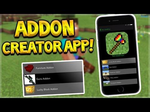 ADDON CREATOR APP!! Minecraft Pocket Edition - iOS Addon Creator No Jailbreak (Pocket Edition)