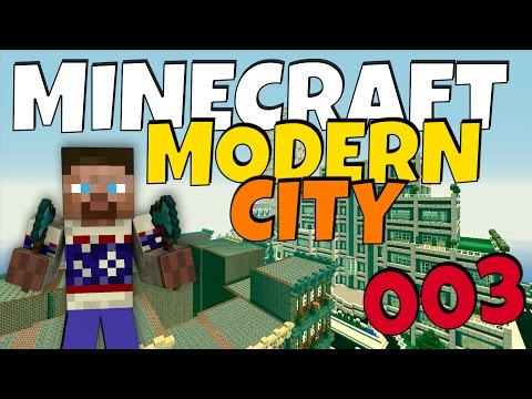 How to build a Modern City in Minecraft - Episode 3