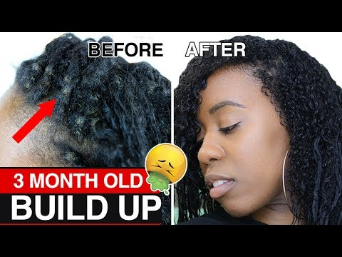 HOW TO Safely Remove Dirt Build Up FAST from Braids & Twists and Detangle Matted Hair