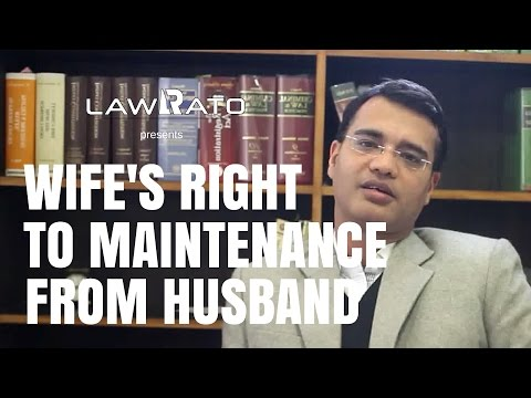 Wife's right to maintenance from husband