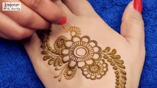 मेहँदी तो आप अक्सर लगाते होंगे - लेकिन ये try किया क्या? latest fashion mehndi design for back hands