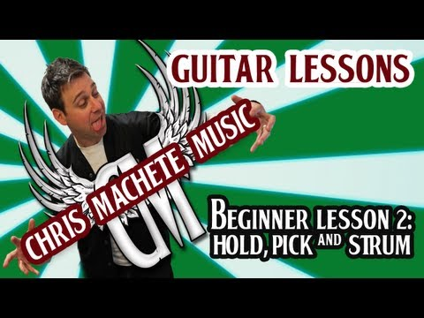 How to Hold, Strum & Pick a Guitar. Beginner Lesson 2