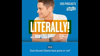 "Magic Johnson On Barack Obama's Basketball Skills - ""Literally! With Rob Lowe"""