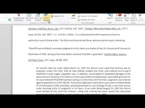 Validate Quotes for Accuracy - Lexis® for Microsoft® Office