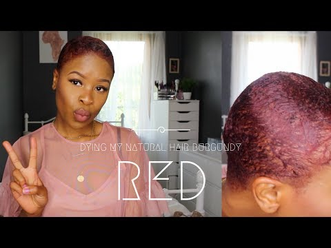 Dying My Short Hair Burgundy | BOLA MARTINS