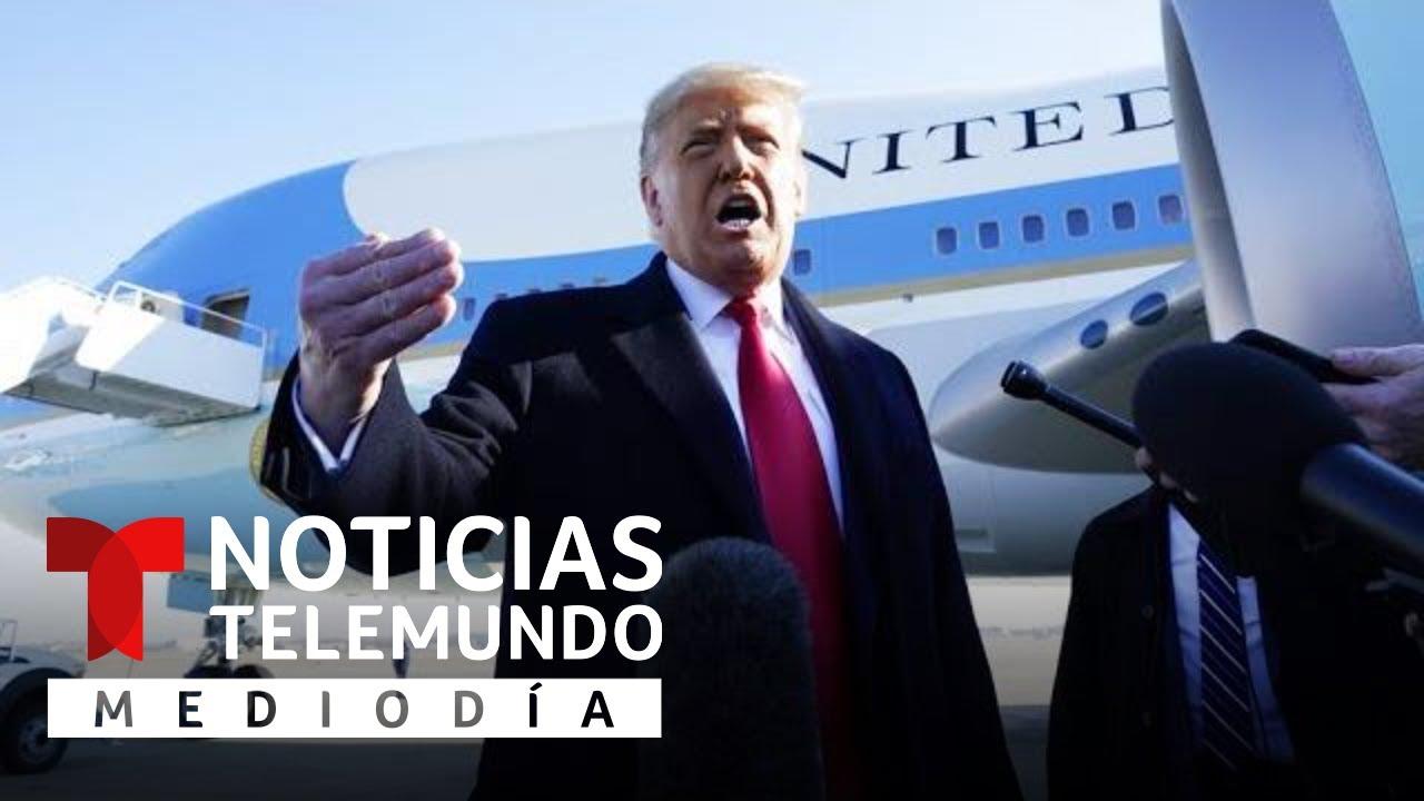 Trump critica intento demócrata de un segundo 'impeachment'   Noticias Telemundo