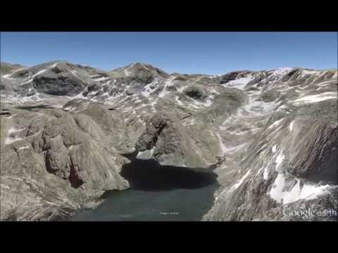 Wind River Range Wyoming Fly-Through Tour - Google Earth