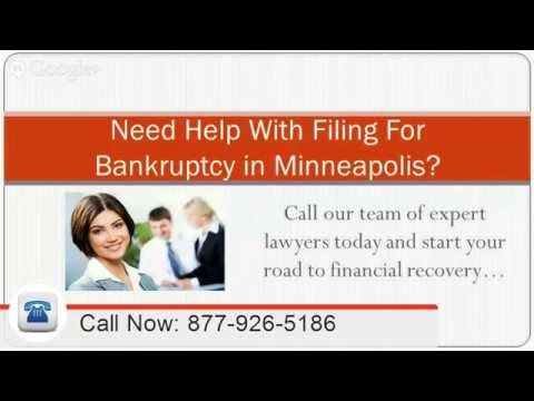 Minneapolis Bankruptcy Attorney: 855-401-1101 Lawyer MN