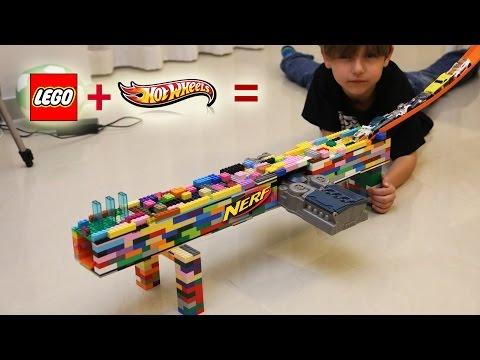 Lego + HotWheels = Nerf | Fun, Toys and Family