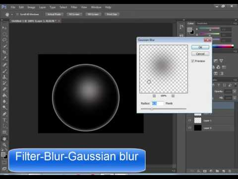 How to create   Water  Bubbles Brush in photoshop cs6 tutorial