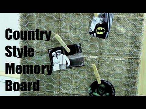 Country Style Memory Board