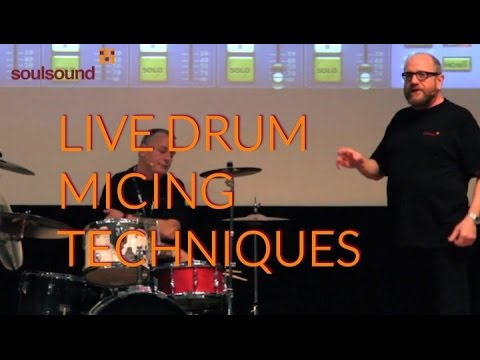 Live Drum Micing Techniques - amazing tips for live drum micing