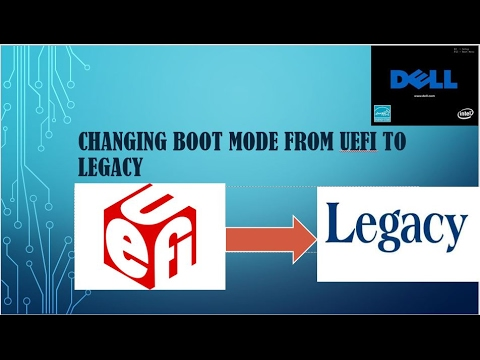 Changing boot mode from UEFI to Legacy boot mode