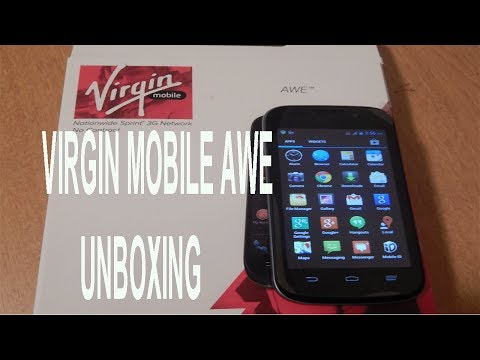 Virgin Mobile Awe Unboxing