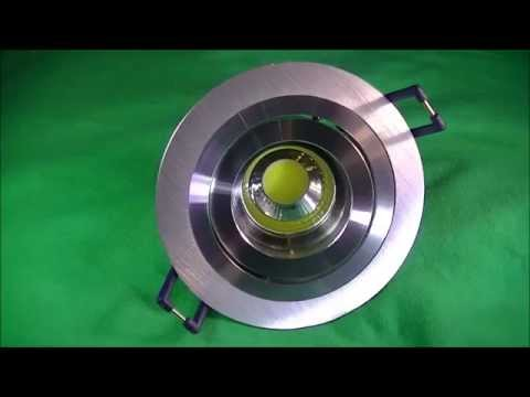 éclairage led lyon - Spot led encastrable led rond 5W 230V GU10 en aluminium brossé - eclaire-led.fr