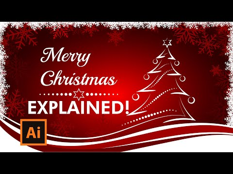 Illustrator Tutorial - How to create a Christmas Card